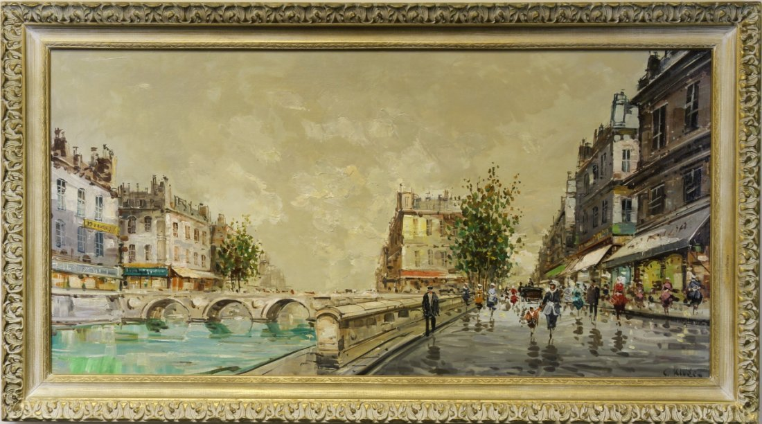 Oil on Canvas Signed Constantin Kluge