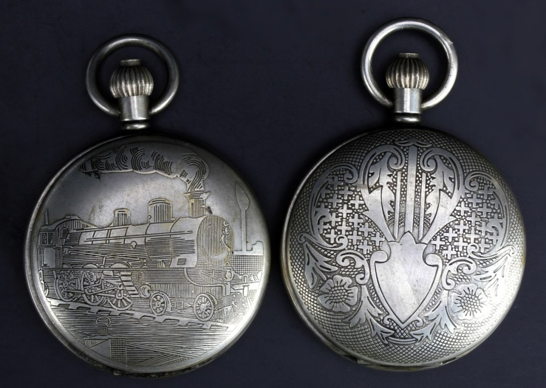Two Chinese Market Western Pocket Watches