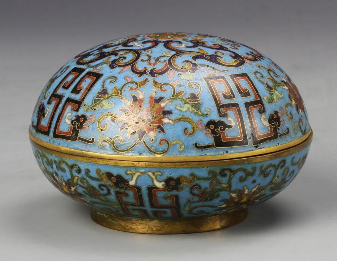 Chinese Cloisonne Ink Box