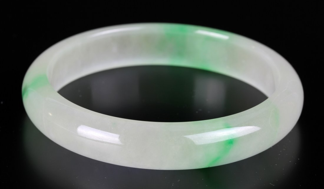 Pair of Chinese Jadeite Bangles