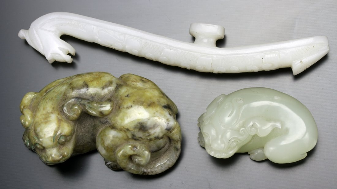 Three Chinese Jade Ornaments