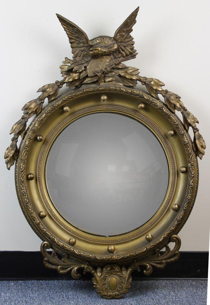 Antique Bullseye Convex Mirror