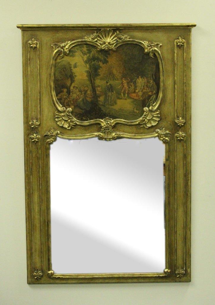Italian Painted Panel Mirror