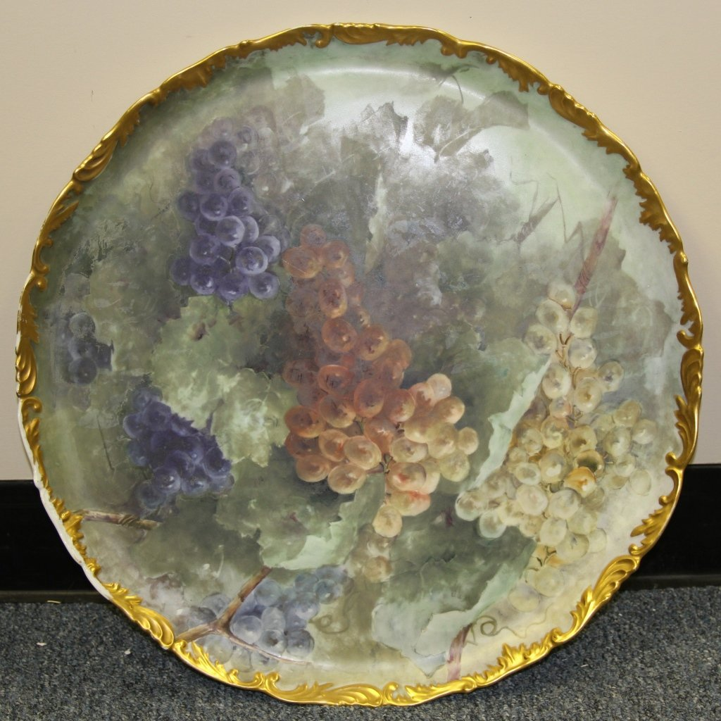 French Hand Painted Platter