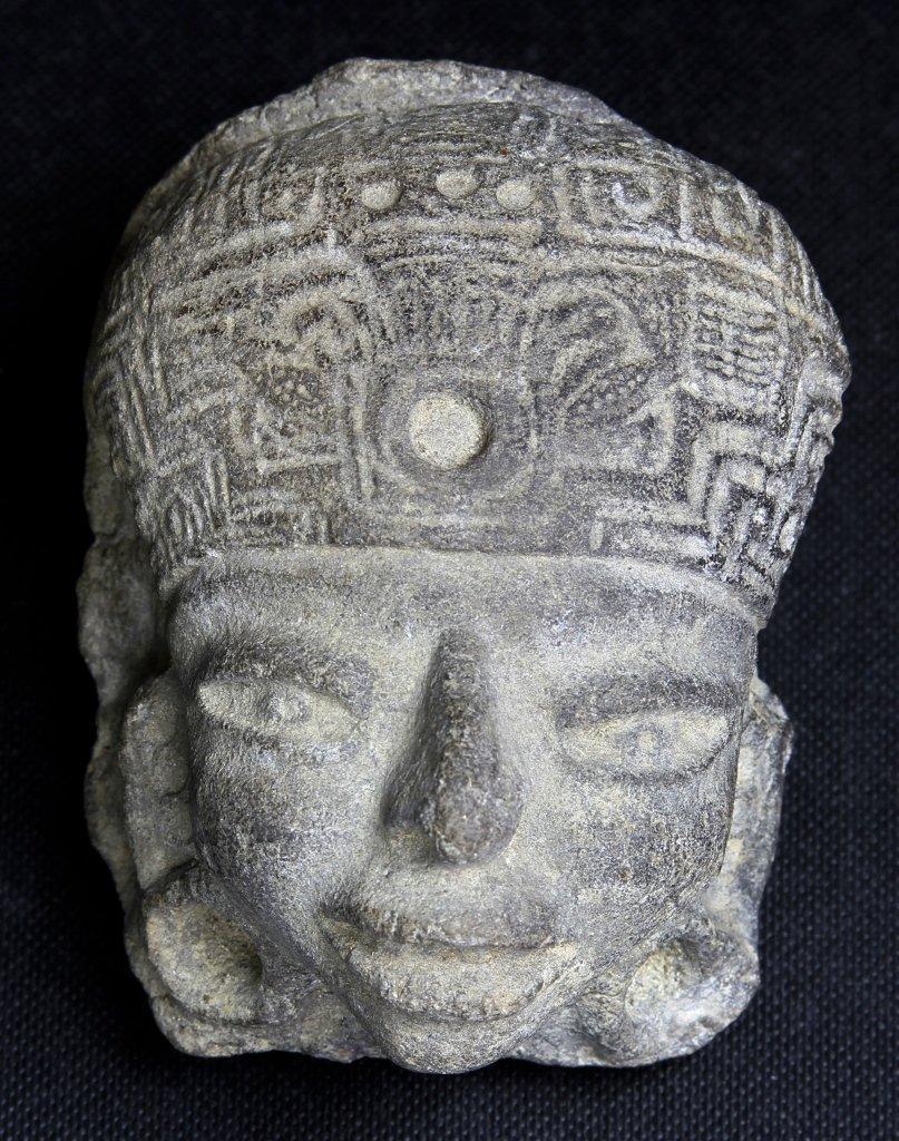 Pre-Columbian Mayan Stone Burial Fragment