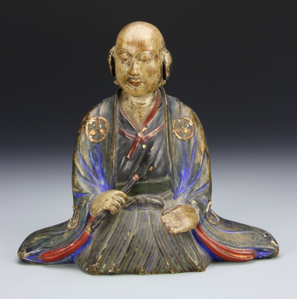Japanese Painted Wooden Figure