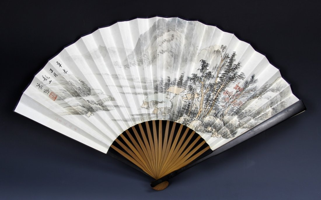 Chinese Fan Painting, Attributed to Xiao San