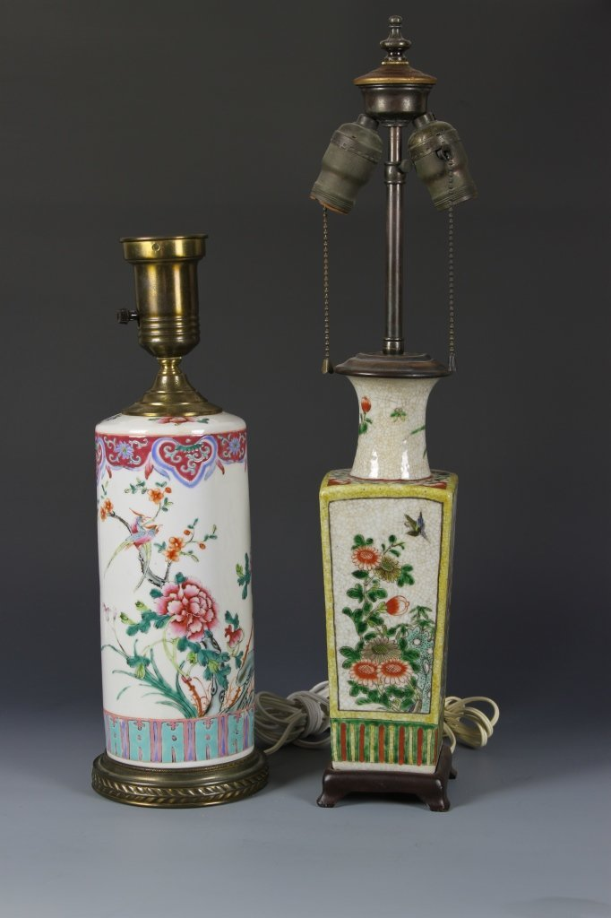 Two Porcelain Chinese Lamps