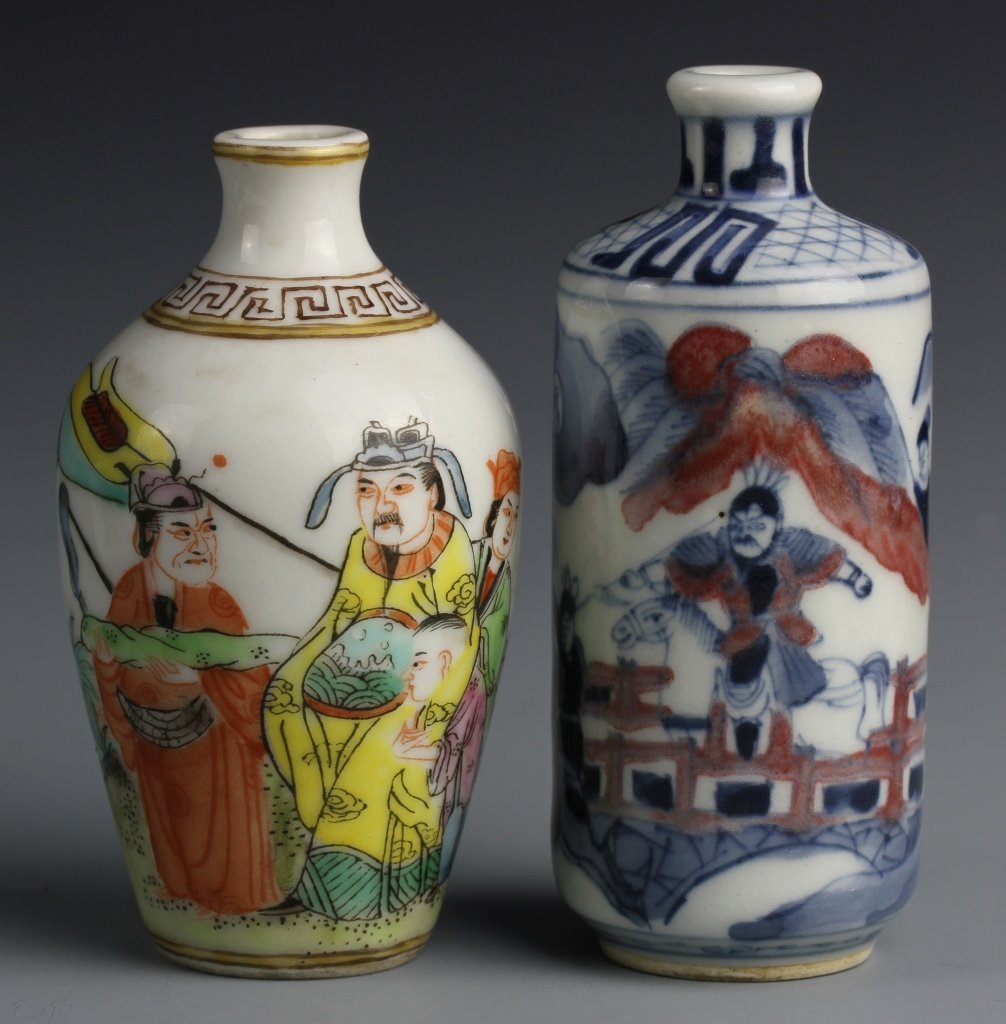 Two Chinese Porcelain Snuff Bottles