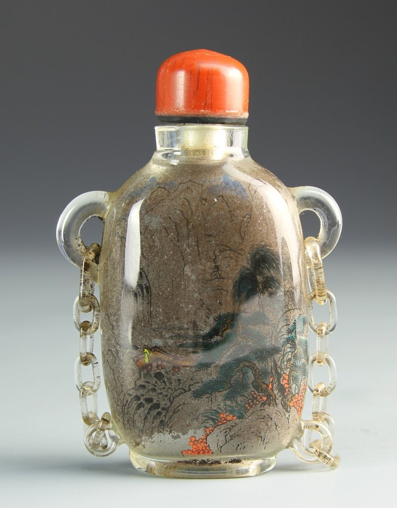 Chinese Glass Interior Painted Snuff Bottle