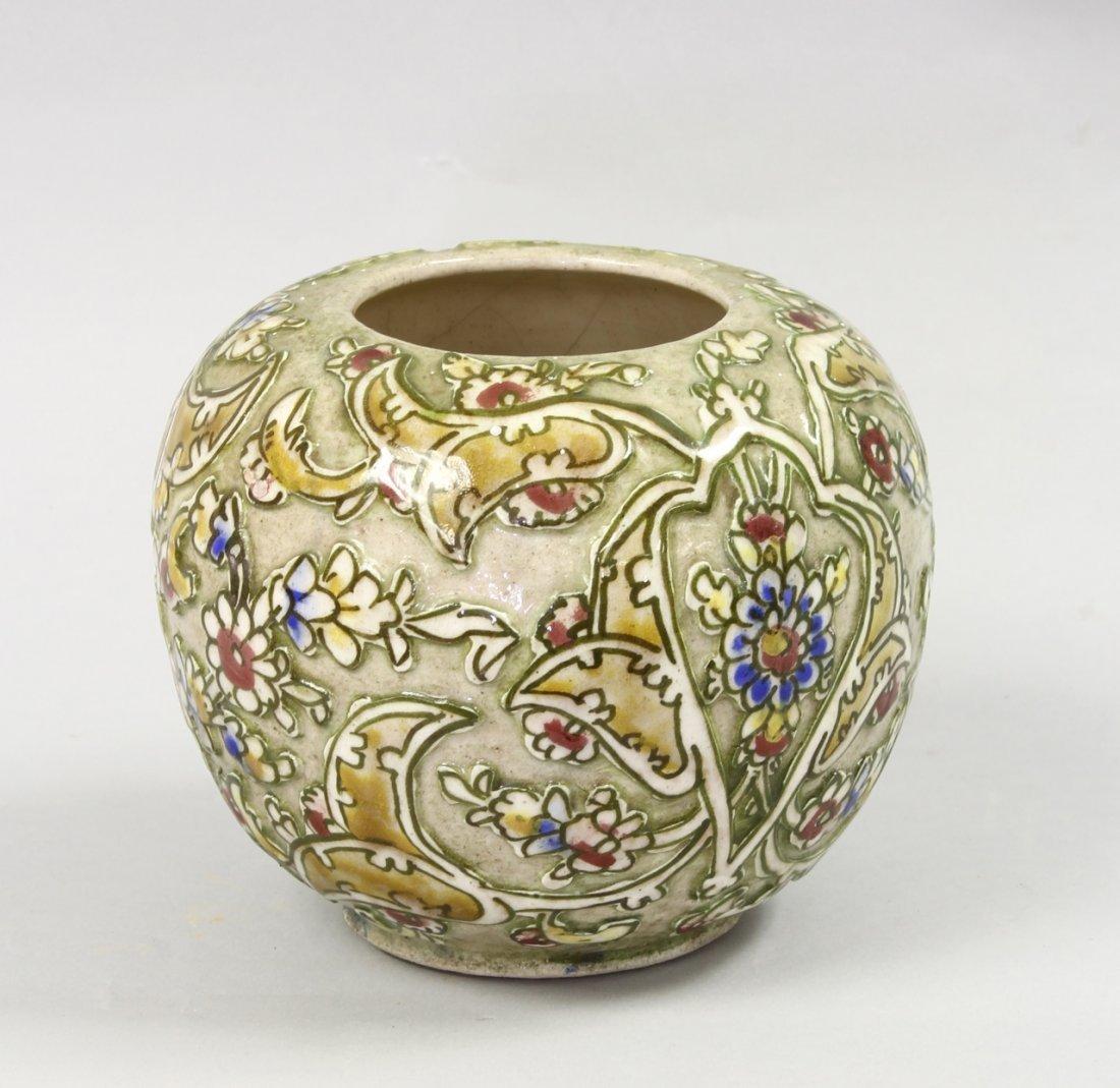 Persian Floral Pottery Jar