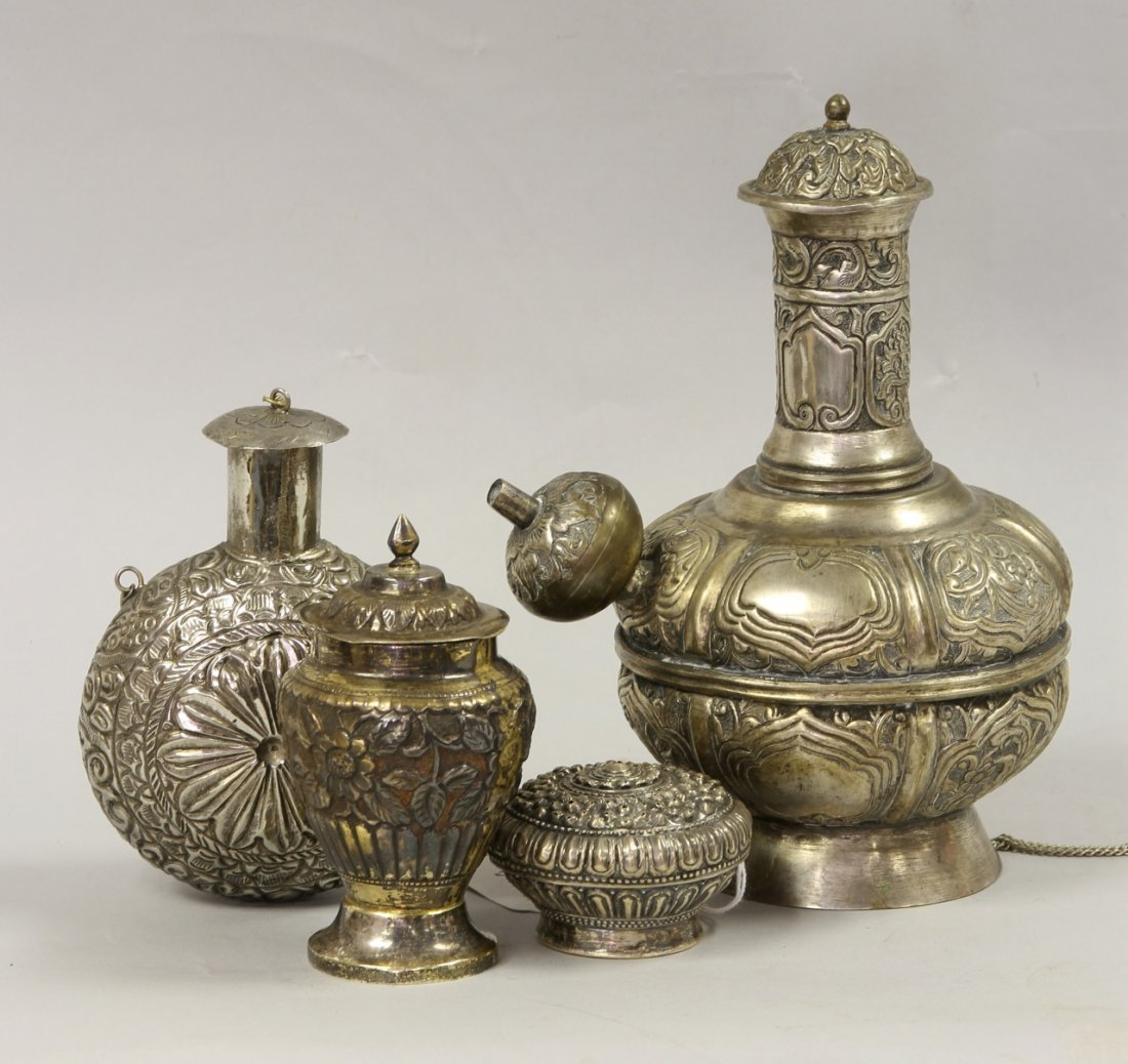 Four South East Asian Silver Vessels