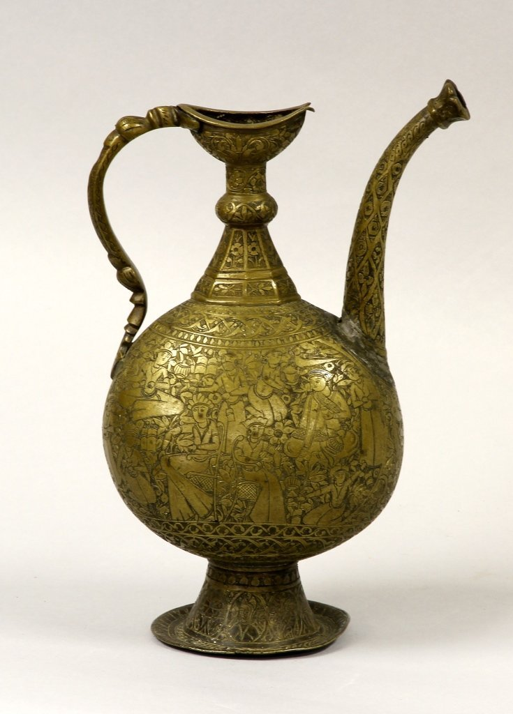 Persian Bronze Carved Ewer