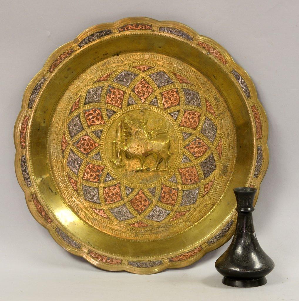 Persian Mixed Metal and Indian Bidri Vase