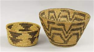 Two Pima Indian Baskets