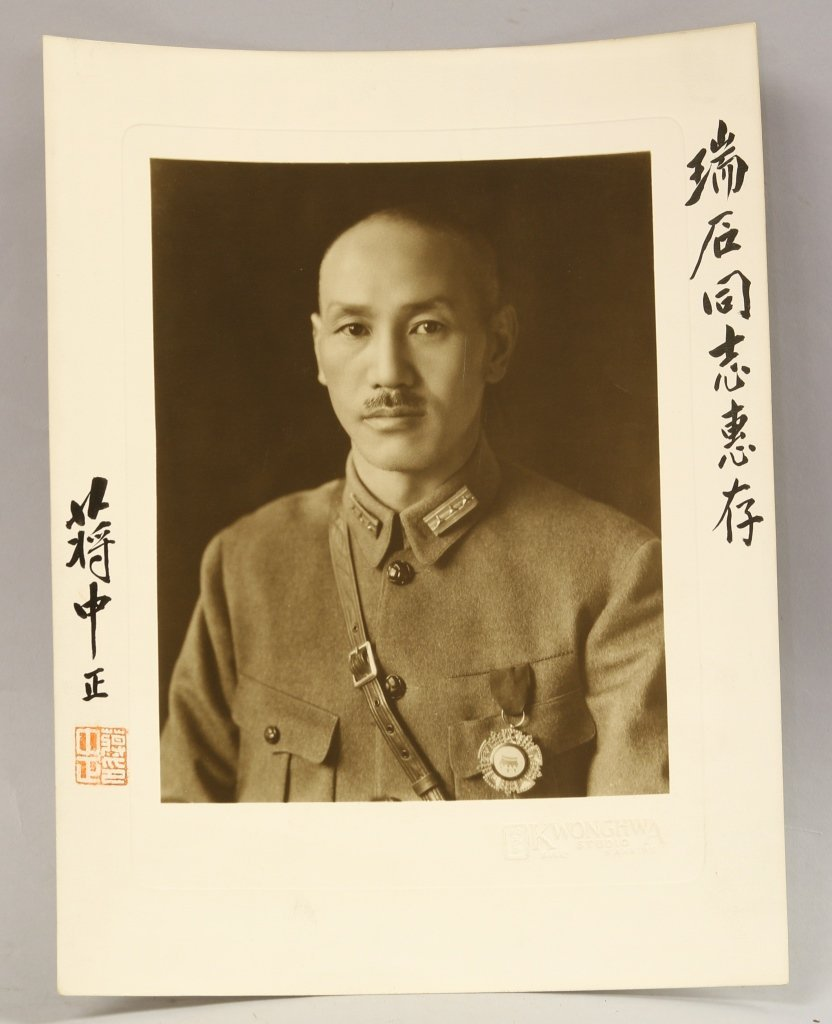 Chiang Kai Shek Signed Photo