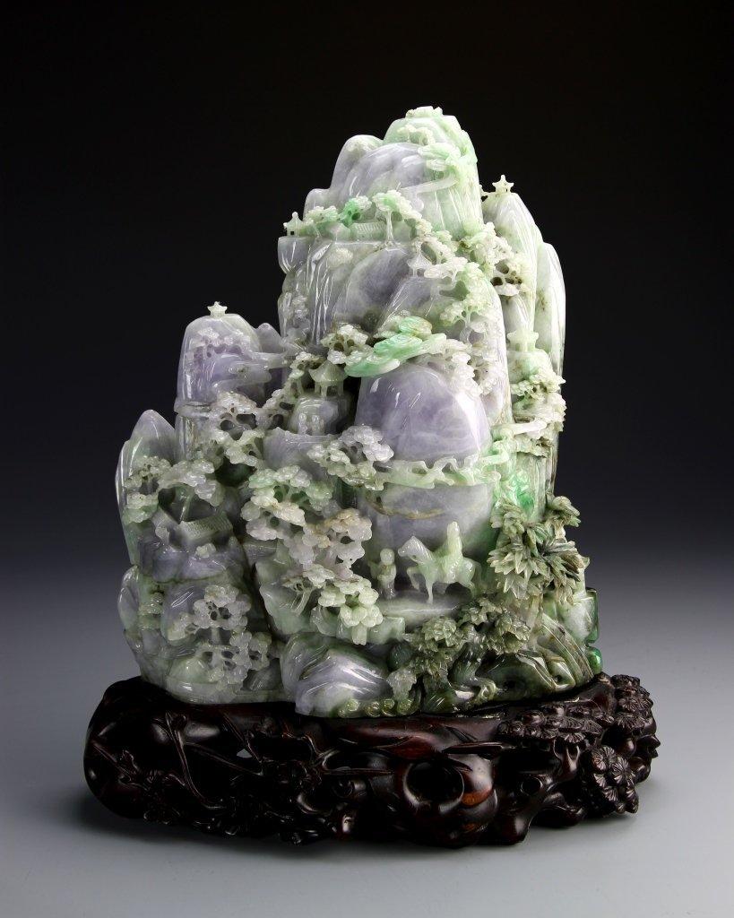 Chinese Jadeite Landscape Mountain