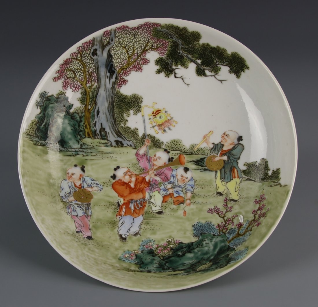 Chinese Important and Rare Famille Rose Dish