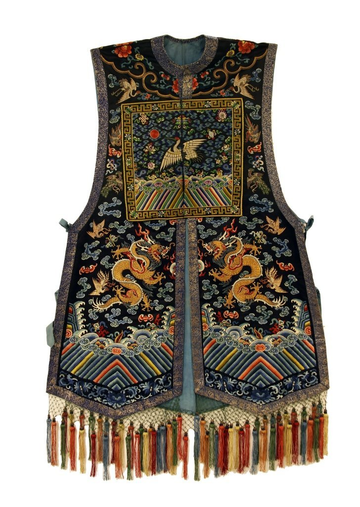 Chinese Silk Embroidery Vest