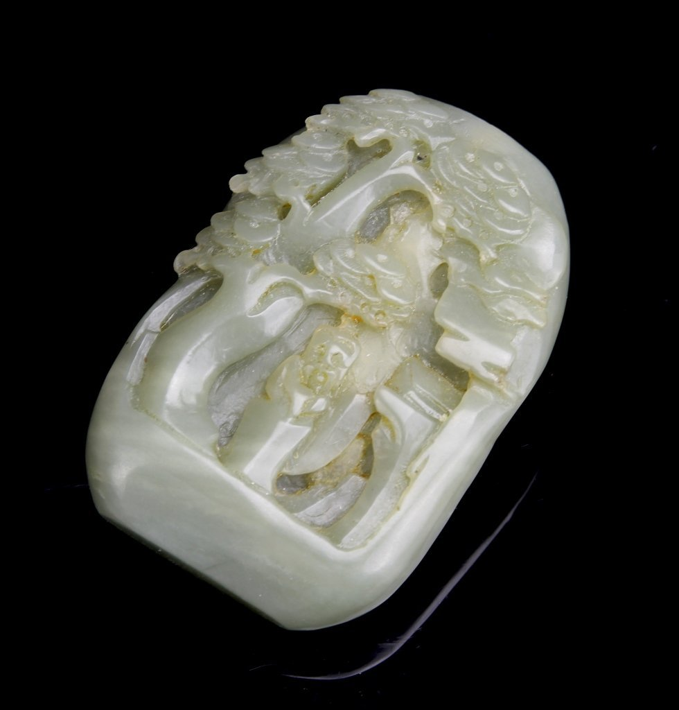 Chinese Carved Jade Snuff Bottle