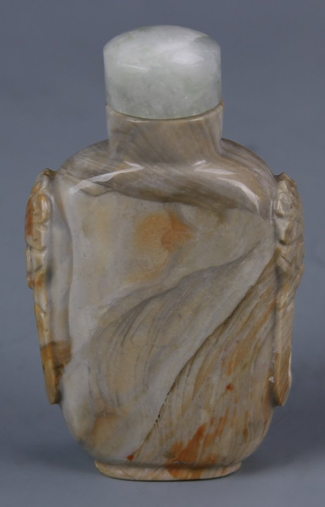 Chinese Carved Shoushan Stone Snuff Bottle
