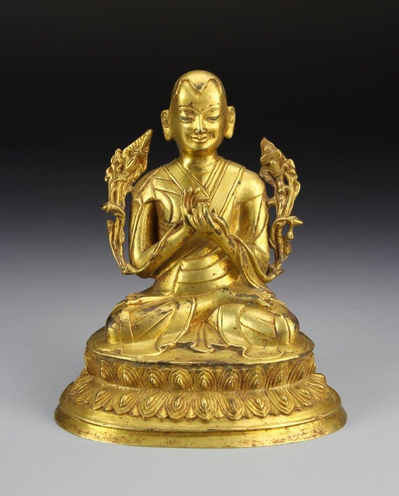 Chinese Gilt Buddha Figure