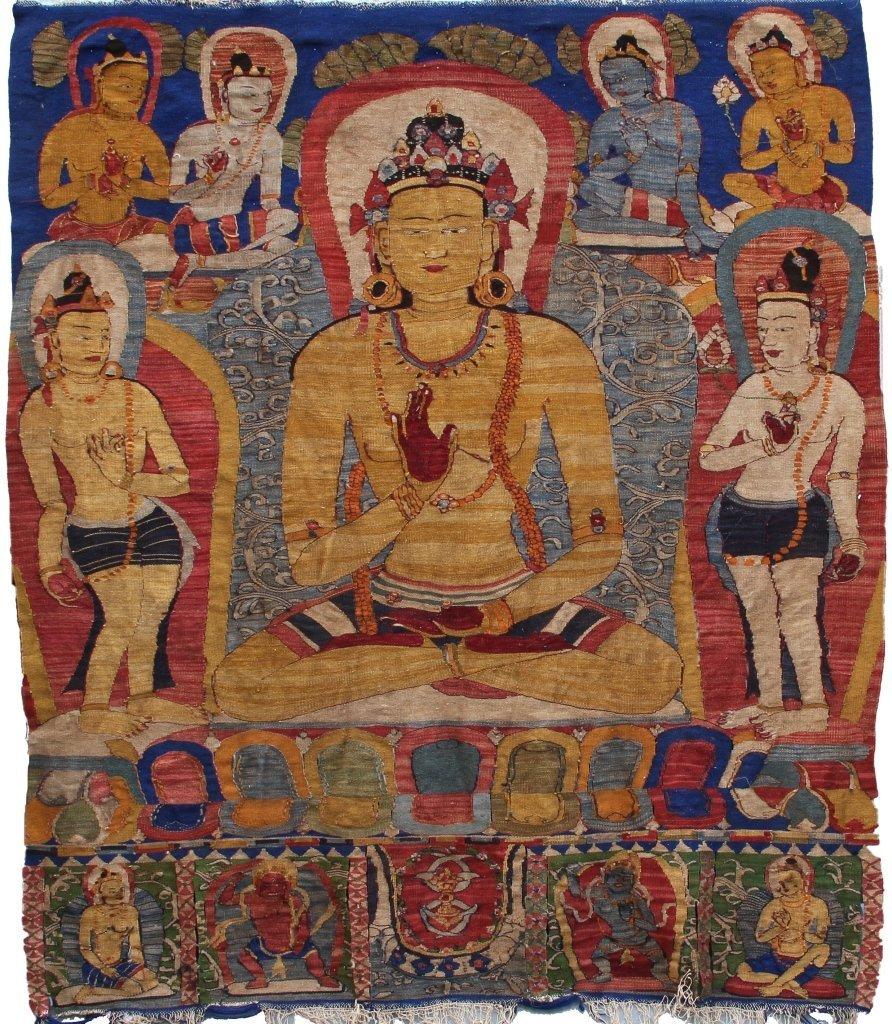 Tibetan Wool Kesi Thangka of Buddha Amoghasiddhi