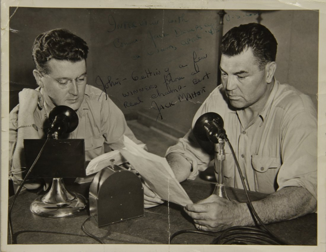Photo of Jack Dempsey Radio Broadcast