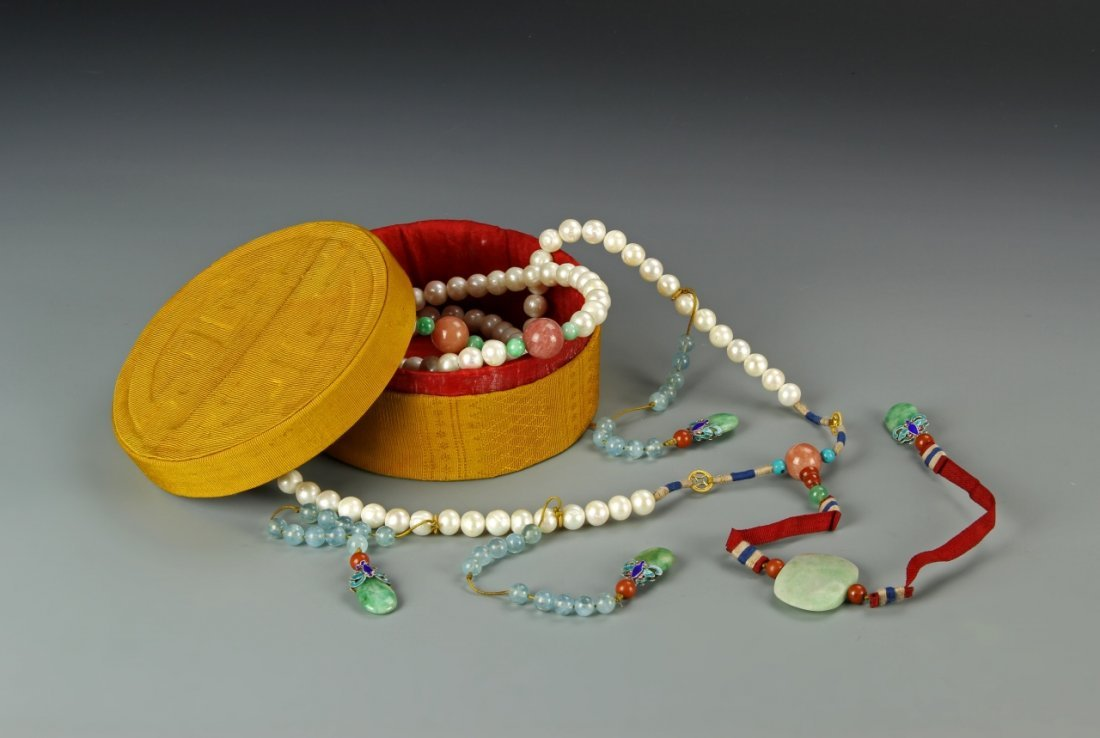 Chinese Imperial Pearl Court Necklace