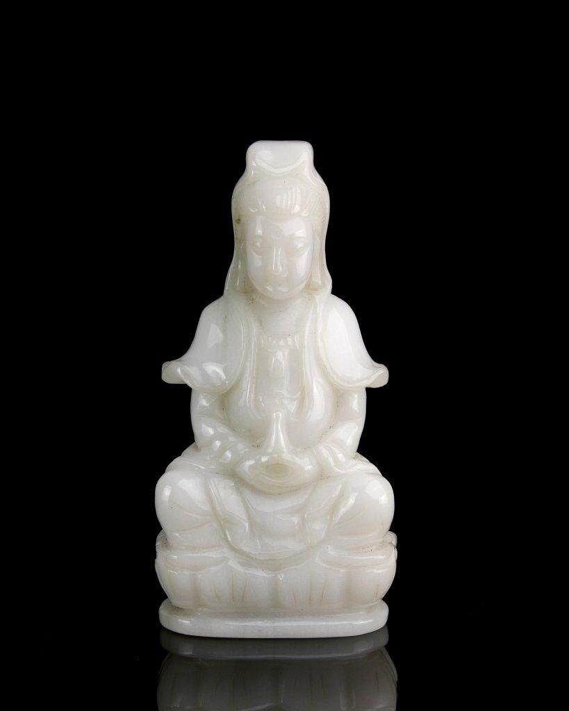 Chinese Jadeite Guanyin Statue