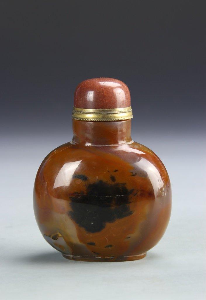 Chinese Mongolian Agate Snuff Bottle