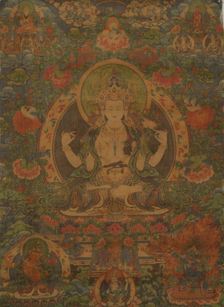 Chinese Tibetan Thangka Painting