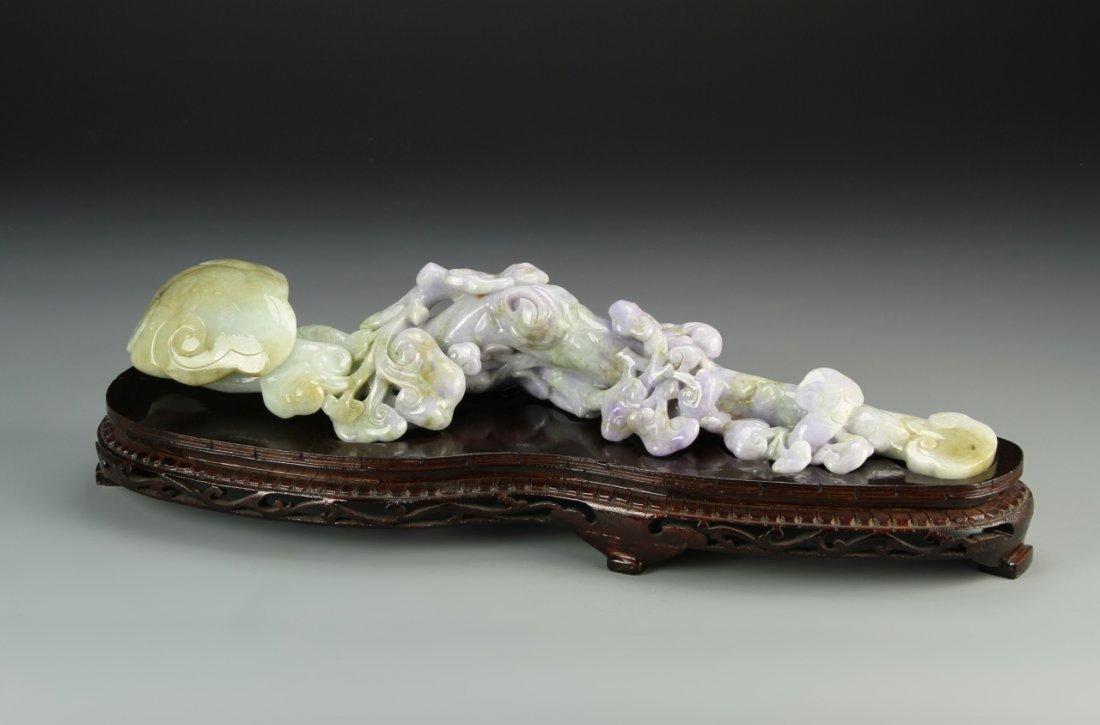 Chinese Jadeite Ruyi Scepter