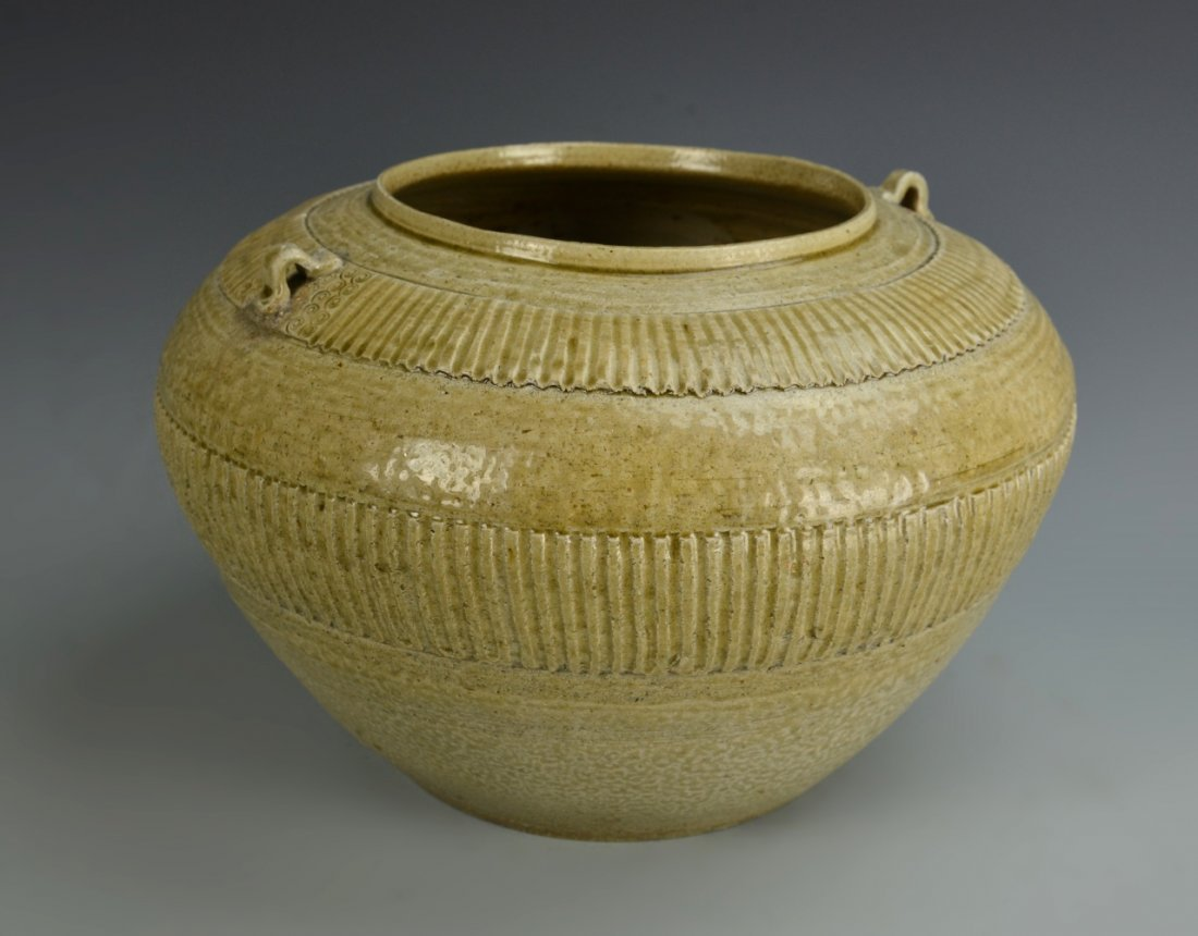 Chinese Antique Yue Yao Ware Jar