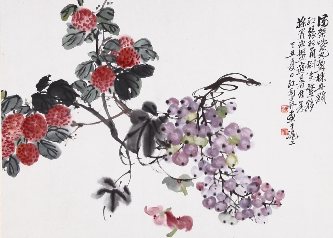 Chinese Water Color of Flowers