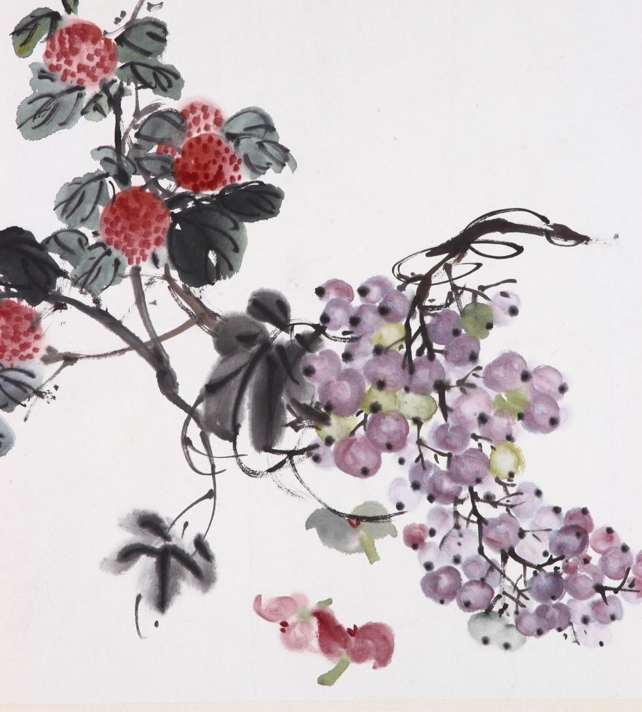 Chinese Water Color of Flowers - 2