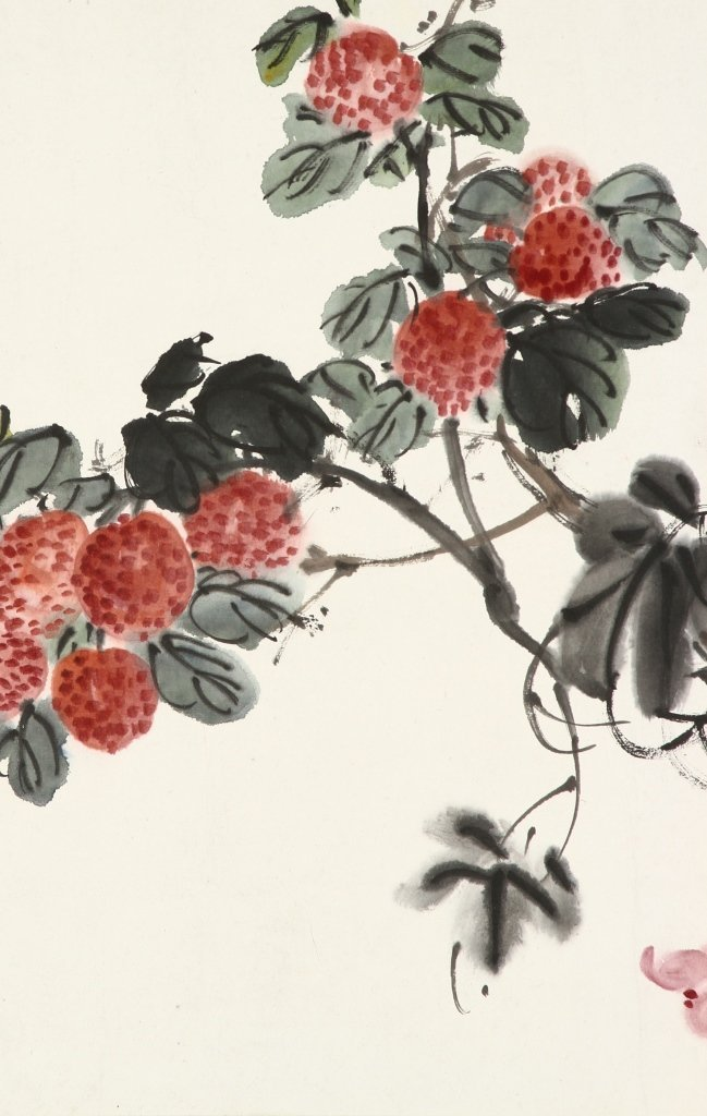 Chinese Water Color of Flowers - 4