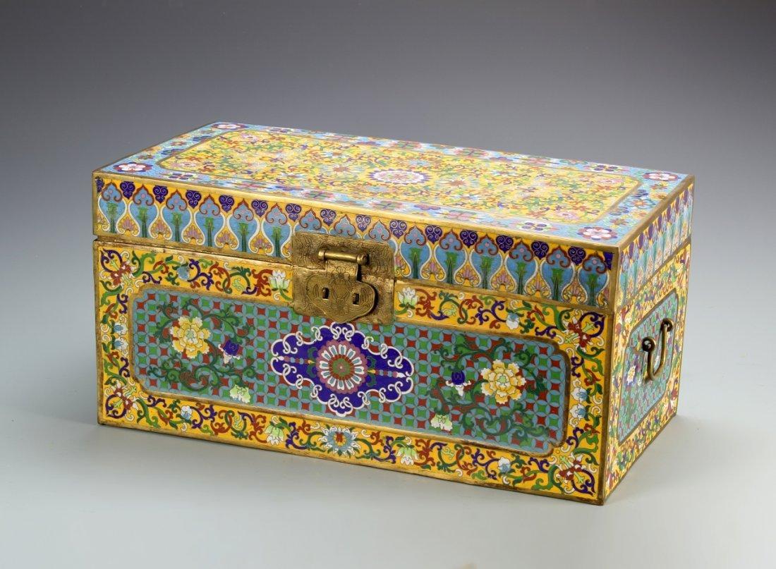 Chinese Scholar Cloisonne Box