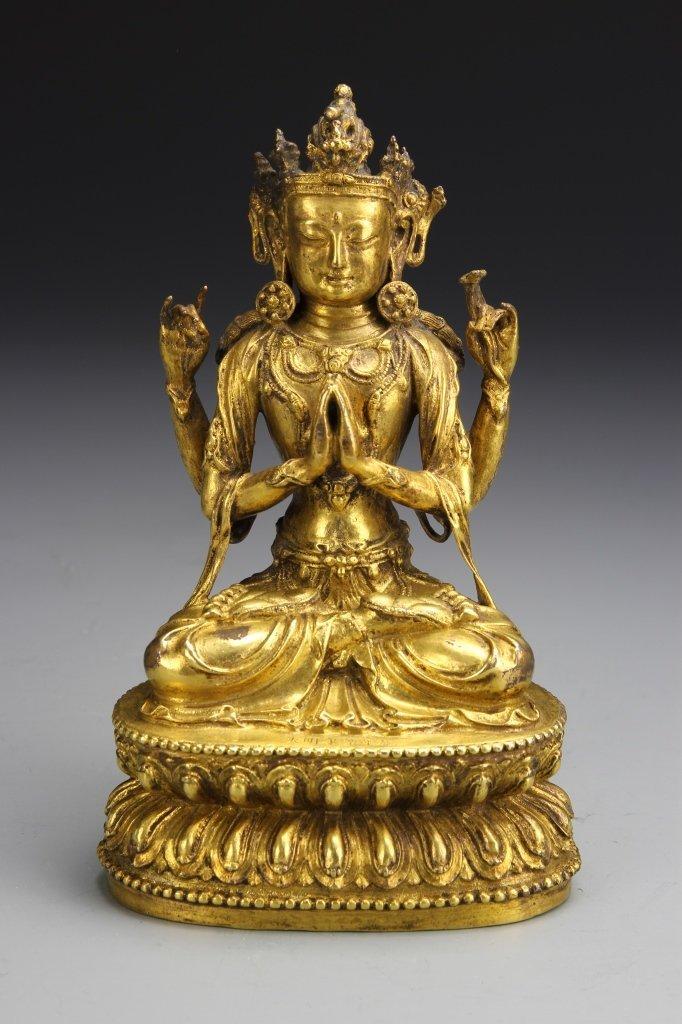 Chinese Gilt-Copper Buddha