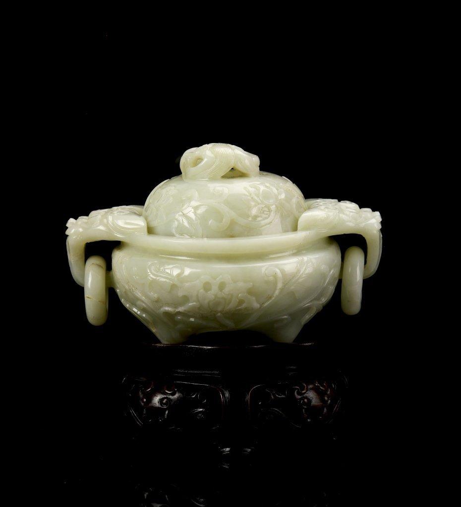 Chinese Jade Tripod Censer