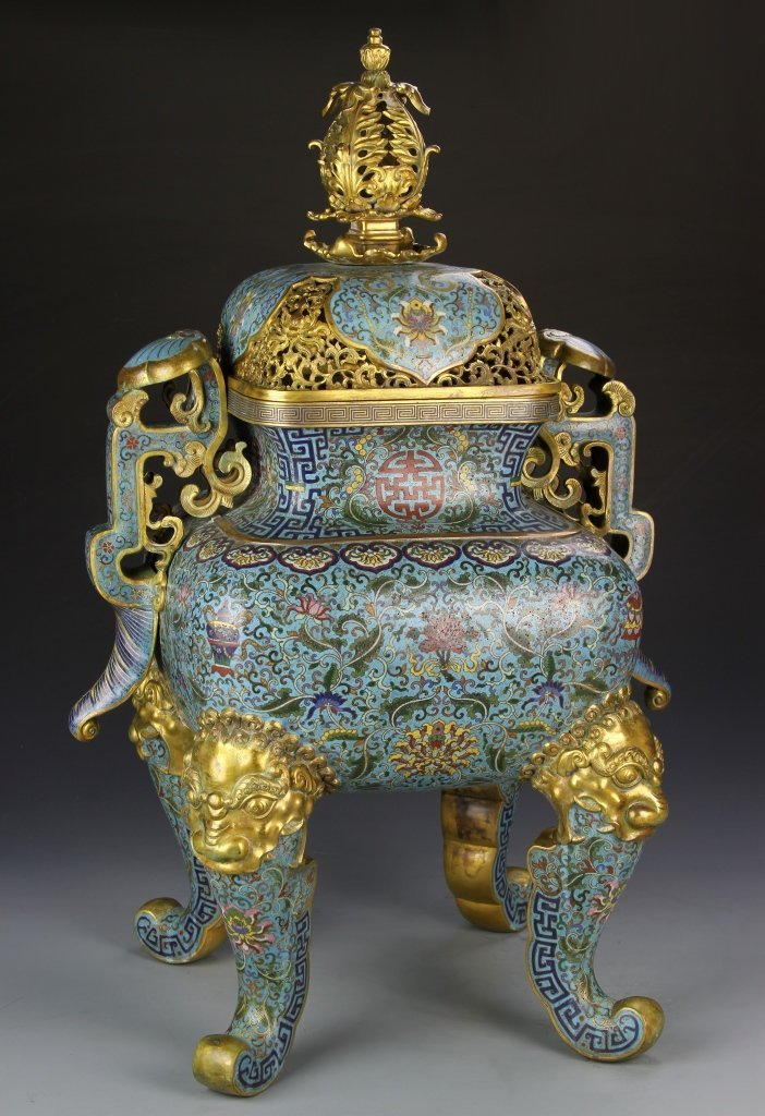 Magnificent Chinese Cloisonne Censer
