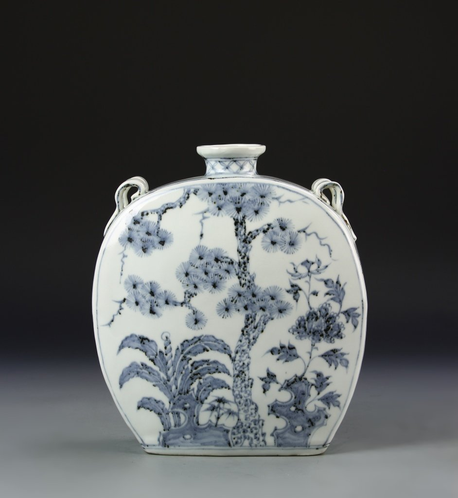 Chinese Blue and White Flask Vase