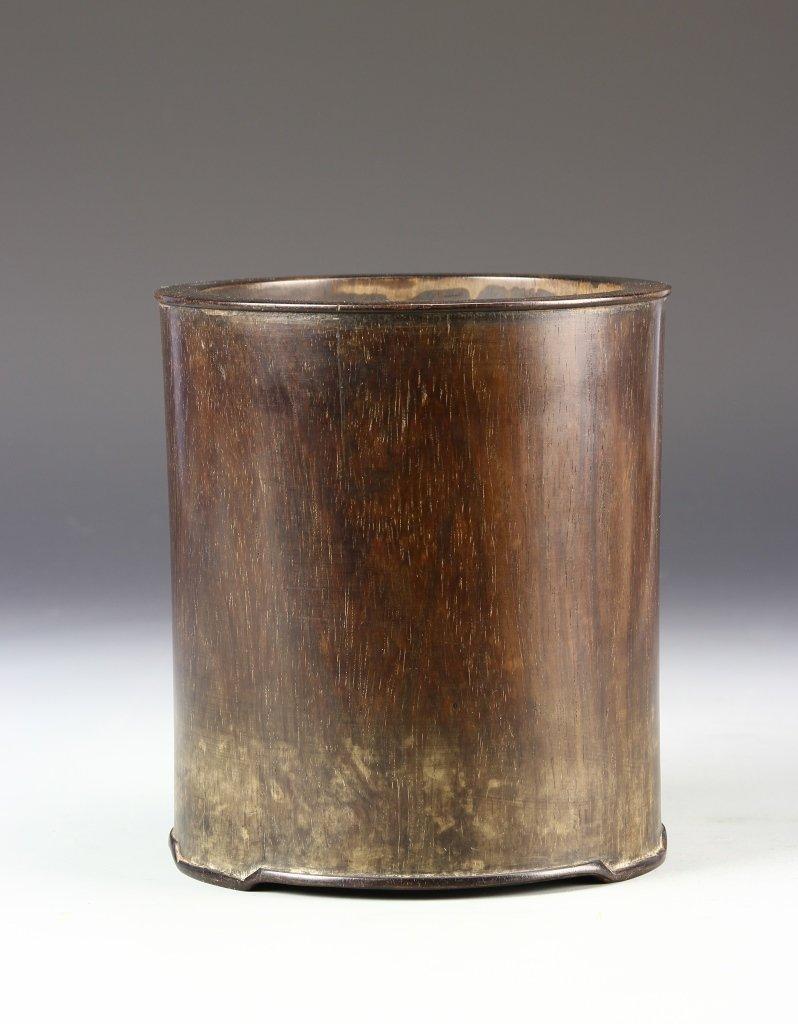 Chinese Qing 18th/19th Century Zitan Brushpot
