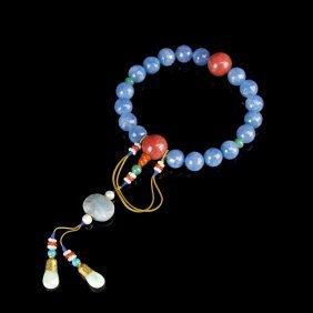 Chinese Aquamarine Prayer Beads