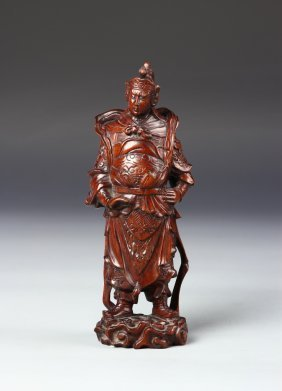 Chinese Rosewood Warrior
