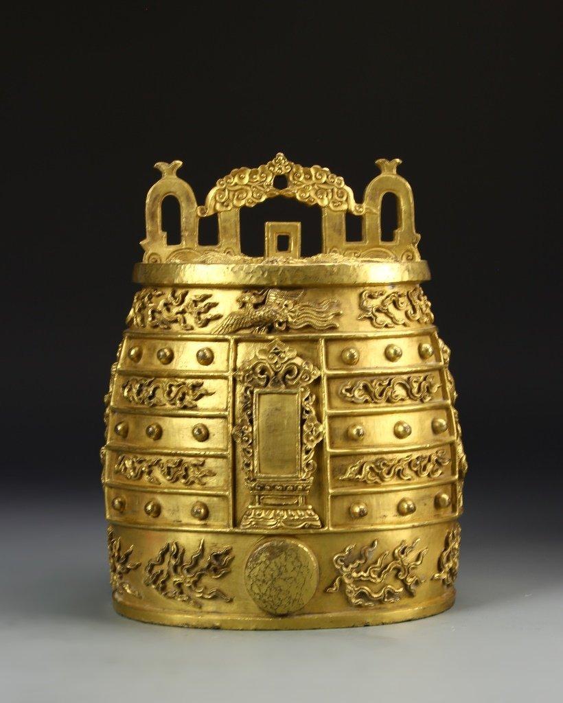 Chinese Gilt Bronze Bell