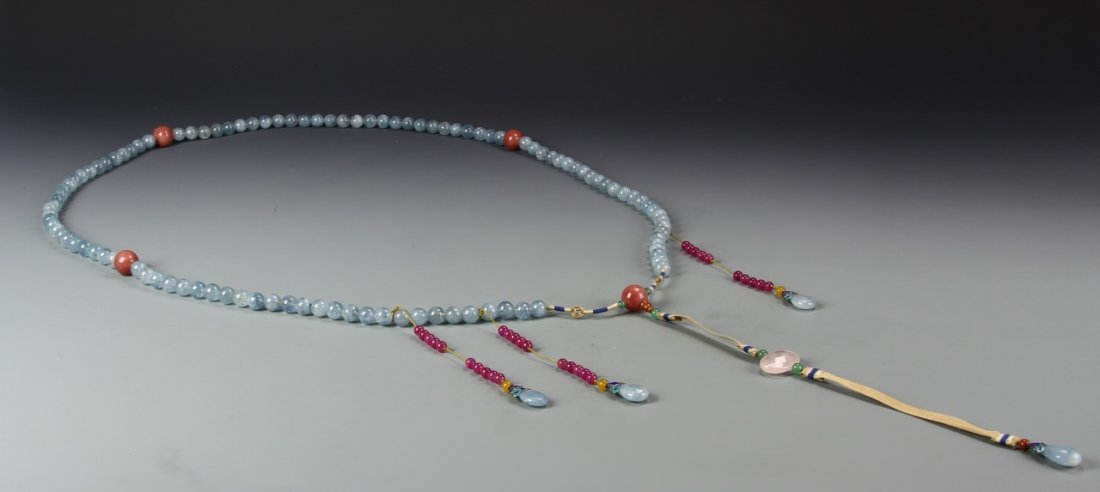 Chinese Imperial Court Necklace - 2