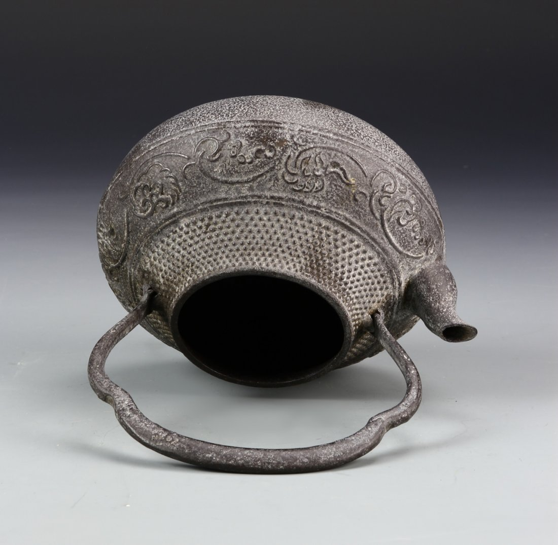 Japanese Iron Cast Teapot - 5