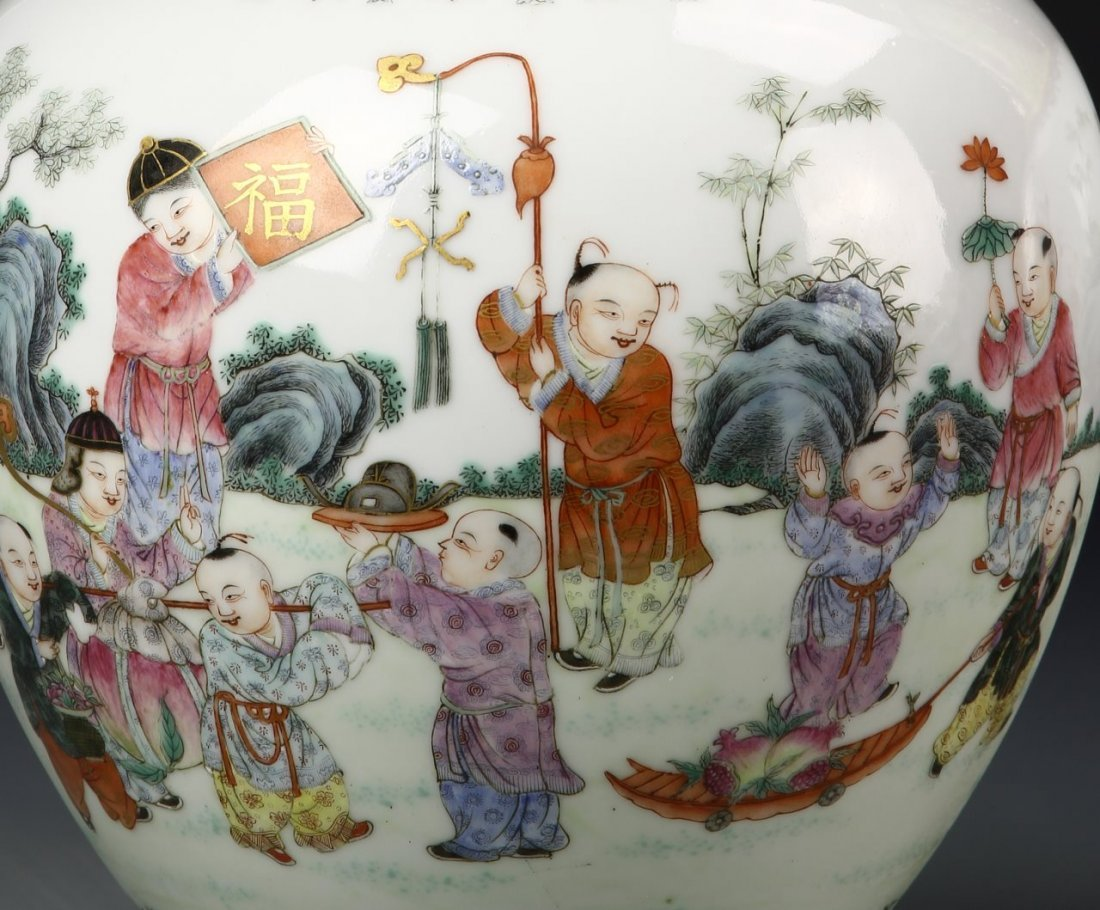 Pair of Chinese Famille Rose Vase - 2