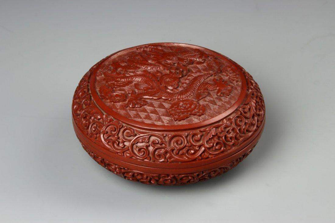 Chinese Cinnabar Ink Box